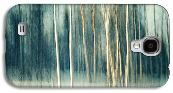 Abstract Movement Galaxy S4 Cases - Snowy birch grove Galaxy S4 Case by Priska Wettstein