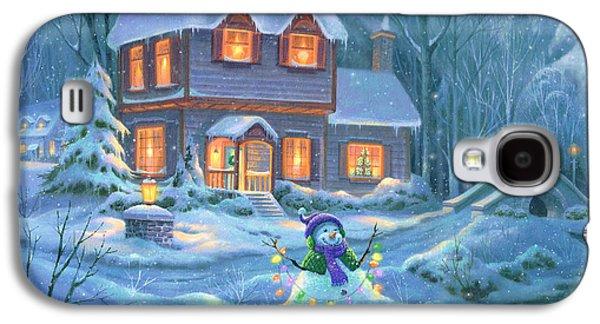 Snowy Bright Night Galaxy S4 Case by Michael Humphries