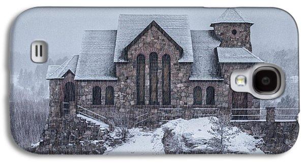 Snow Tree Prints Galaxy S4 Cases - Snowy Church Galaxy S4 Case by Darren  White