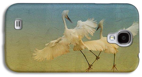Deborah Benoit Galaxy S4 Cases - Snowy Egret Dance Galaxy S4 Case by Deborah Benoit
