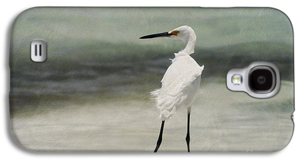 Snowy Digital Art Galaxy S4 Cases - Snowy Egret Galaxy S4 Case by John Edwards