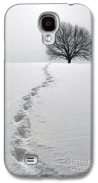 Lone Tree Galaxy S4 Cases - Snowy Path Galaxy S4 Case by Diane Diederich