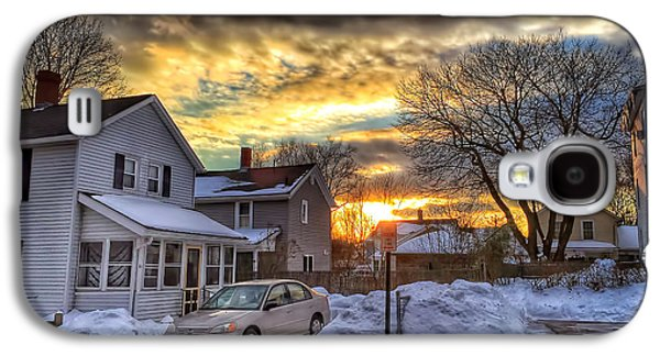 Snowy Evening Galaxy S4 Cases - Snowy Sunset Galaxy S4 Case by HD Connelly