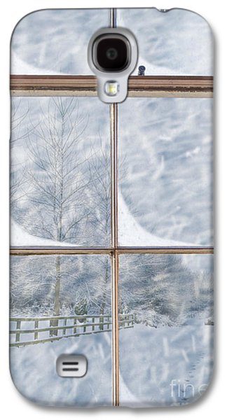 Interior Scene Photographs Galaxy S4 Cases - Snowy Window Galaxy S4 Case by Amanda And Christopher Elwell