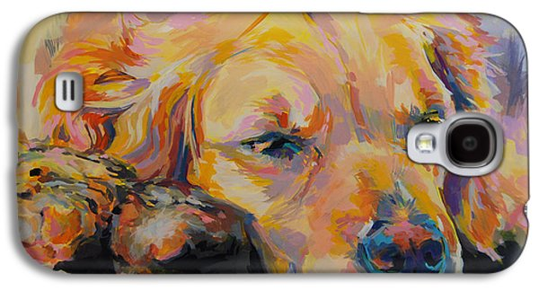 Golden Retriever Galaxy S4 Cases - Snuggle Bunny Galaxy S4 Case by Kimberly Santini