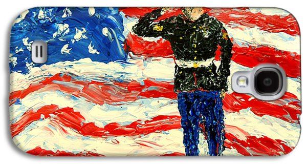 4th July Paintings Galaxy S4 Cases - So Proudly They Hailed  Galaxy S4 Case by Mark Moore