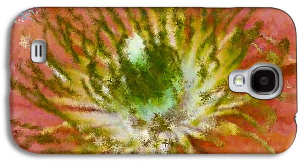 Abstract Digital Art Galaxy S4 Cases - So What Brown Galaxy S4 Case by Holley Jacobs
