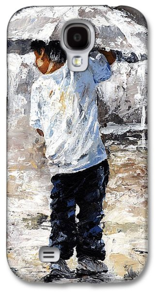 Little Boy Galaxy S4 Cases - Soaked Galaxy S4 Case by Emerico Imre Toth
