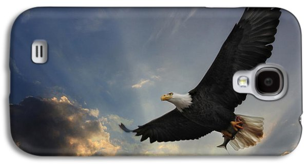 Wildlife Digital Art Galaxy S4 Cases - Soar to new heights Galaxy S4 Case by Lori Deiter