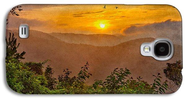Tree Print Mixed Media Galaxy S4 Cases - Soaring at Sunrise - Blue Ridge Parkway II Galaxy S4 Case by Dan Carmichael