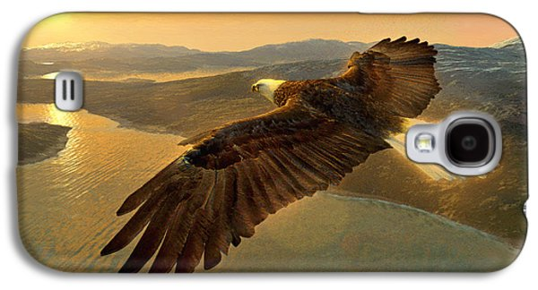 Ray Downing Galaxy S4 Cases - Soaring Eagle Galaxy S4 Case by Ray Downing