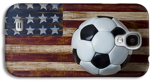 Soccer Ball And Stars And Stripes Galaxy S4 Case by Garry Gay
