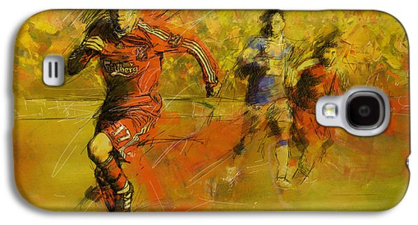 Goalkeeper Paintings Galaxy S4 Cases - Soccer  Galaxy S4 Case by Corporate Art Task Force