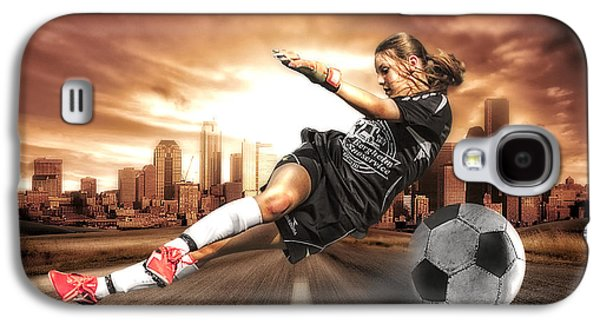 Action Photographs Galaxy S4 Cases - Soccer Girl Galaxy S4 Case by Erik Brede