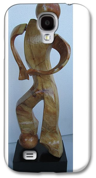 Person Sculptures Galaxy S4 Cases - Soccer Guy Alone  Galaxy S4 Case by Gonz Jove