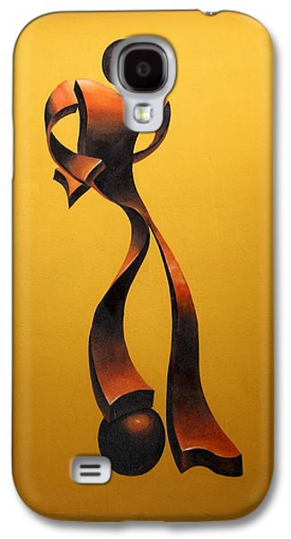 Sports Sculptures Galaxy S4 Cases - Soccer Player Galaxy S4 Case by Gonz Jove