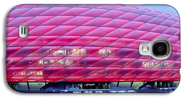 Sports Photographs Galaxy S4 Cases - Soccer Stadium Lit Up At Dusk, Allianz Galaxy S4 Case by Panoramic Images