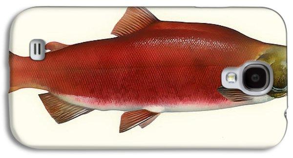 Blood Drawings Galaxy S4 Cases - Sockeye Salmon Galaxy S4 Case by Mountain Dreams