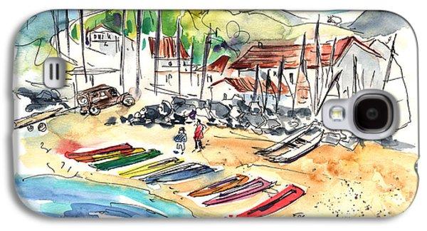 Canoe Drawings Galaxy S4 Cases - Socoa 06 Galaxy S4 Case by Miki De Goodaboom