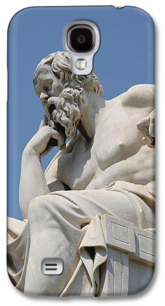 Greek Sculpture Galaxy S4 Cases - Socrates 469-399 Bc. Classical Greek Philosopher Galaxy S4 Case by Bridgeman Images
