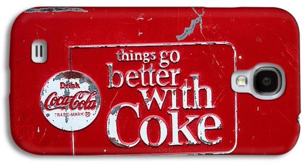 Coca-cola Signs Galaxy S4 Cases - Soda of choice Galaxy S4 Case by Toni Hopper