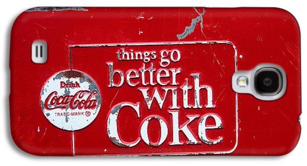 Coca-cola Sign Galaxy S4 Cases - Soda of choice Galaxy S4 Case by Toni Hopper