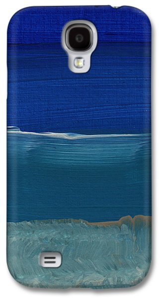 """abstract Art"" Galaxy S4 Cases - Soft Crashing Waves- Abstract Landscape Galaxy S4 Case by Linda Woods"