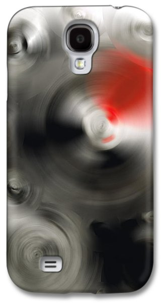 Ultra Modern Galaxy S4 Cases - Soft Dance - Abstract Art By Sharon Cummings Galaxy S4 Case by Sharon Cummings