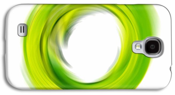 Ultra Modern Galaxy S4 Cases - Soft Green Enso - Abstract Art By Sharon Cummings Galaxy S4 Case by Sharon Cummings