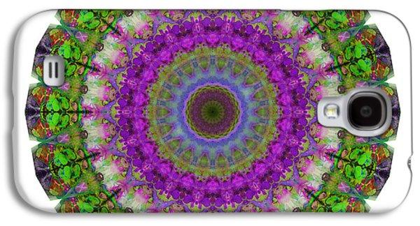 Sacred-wisdom Galaxy S4 Cases - Soft Light - Kaleidoscope Mandala By Sharon Cummings Galaxy S4 Case by Sharon Cummings