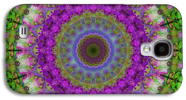 Soft Light - Kaleidoscope Mandala By Sharon Cummings Galaxy S4 Case by Sharon Cummings