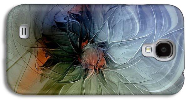 Floral Digital Art Digital Art Galaxy S4 Cases - Soft Pastels Galaxy S4 Case by Amanda Moore
