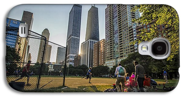 Softball Photographs Galaxy S4 Cases - Softball by Skyscrapers Galaxy S4 Case by Sven Brogren