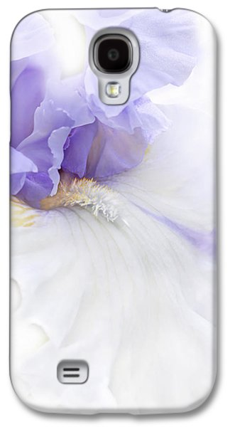 Recently Sold -  - Botanical Galaxy S4 Cases - Softness of a Lavender Iris Flower Galaxy S4 Case by Jennie Marie Schell