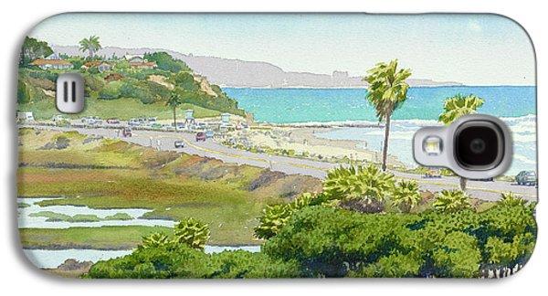 California Beaches Galaxy S4 Cases - Solana Beach California Galaxy S4 Case by Mary Helmreich