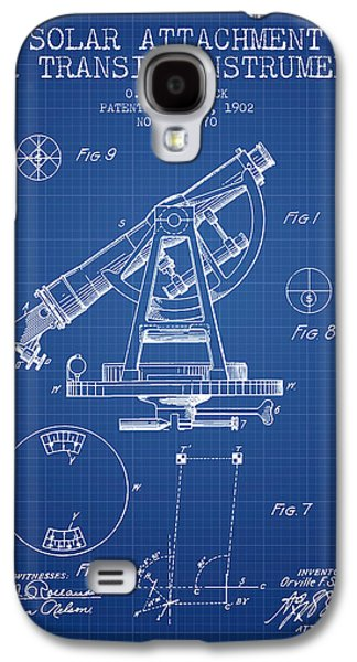 Surveying Galaxy S4 Cases - Solar Attachement for Transit Instruments Patent from 1902 - Blu Galaxy S4 Case by Aged Pixel