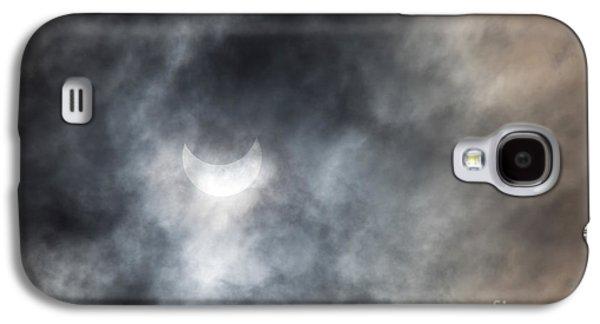 Solar Eclipse Galaxy S4 Cases - Solar Eclips Galaxy S4 Case by Rebecca Cozart