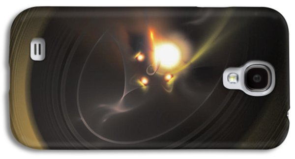 Manley Galaxy S4 Cases - Solar Flare - A Fractal Creation Galaxy S4 Case by Gina Lee Manley