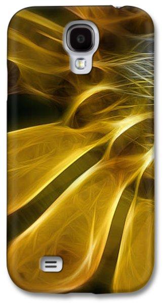 Abstract Digital Photographs Galaxy S4 Cases - Solar Floral Galaxy S4 Case by Jean OKeeffe Macro Abundance Art