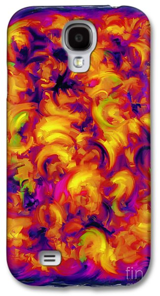 Loose Style Digital Art Galaxy S4 Cases - Solar Galaxy S4 Case by Keith Mills