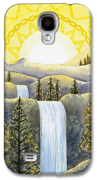 Chakra Paintings Galaxy S4 Cases - Solar Plexus Chakra Galaxy S4 Case by Catherine G McElroy