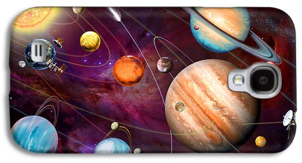 Intergalactic Space Galaxy S4 Cases - Solar System 2 Galaxy S4 Case by Garry Walton