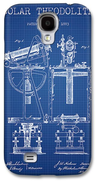 Surveying Galaxy S4 Cases - Solar Theodolite Patent from 1883 - Blueprint Galaxy S4 Case by Aged Pixel
