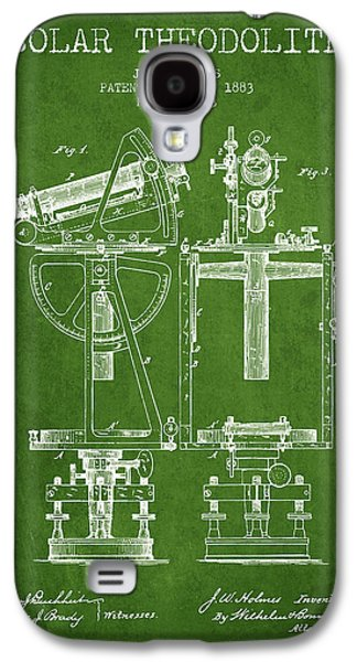 Surveying Galaxy S4 Cases - Solar Theodolite Patent from 1883 - Green Galaxy S4 Case by Aged Pixel