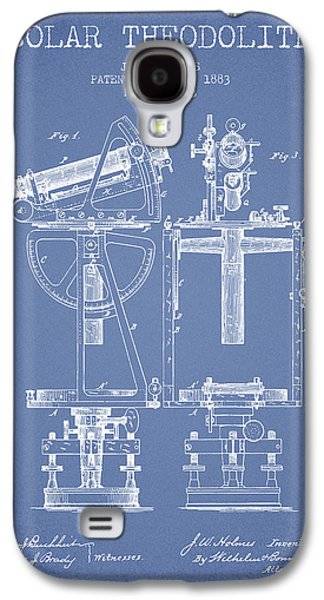 Surveying Galaxy S4 Cases - Solar Theodolite Patent from 1883 - Light Blue Galaxy S4 Case by Aged Pixel