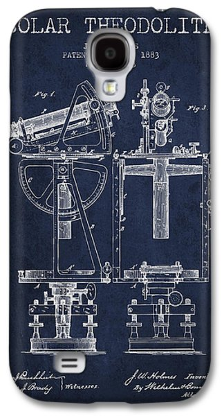 Surveying Galaxy S4 Cases - Solar Theodolite Patent from 1883 - Navy Blue Galaxy S4 Case by Aged Pixel