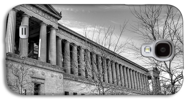 Soldier Field Galaxy S4 Cases - Soldier Field in Black and White Galaxy S4 Case by David Bearden
