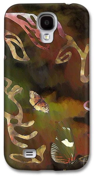 Avant Garde Mixed Media Galaxy S4 Cases - Solemn Wing Dance Galaxy S4 Case by Sarah Loft