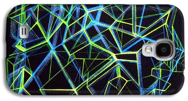 Abstract Digital Drawings Galaxy S4 Cases - Solid Spatial Galaxy S4 Case by The Door Project