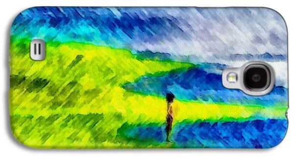 Painter Photo Mixed Media Galaxy S4 Cases - Solitary Galaxy S4 Case by Mario Carini